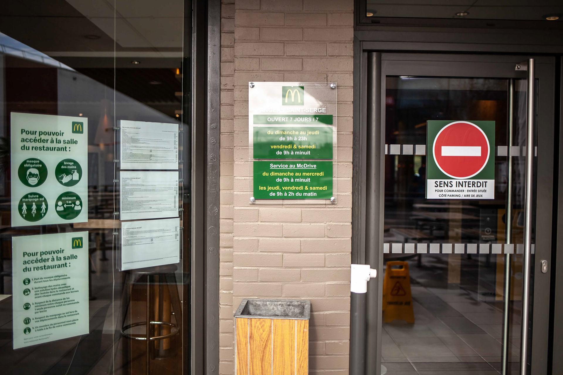 Affichage et signalétique restaurant
