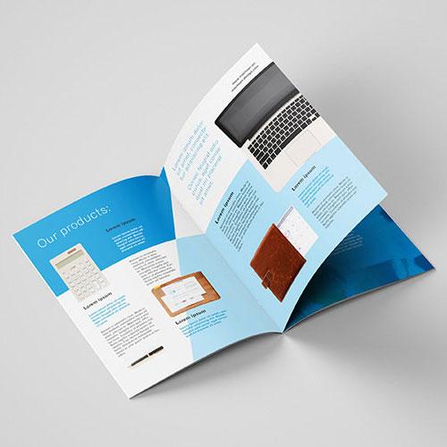 Brochure reliure 2 agrafes