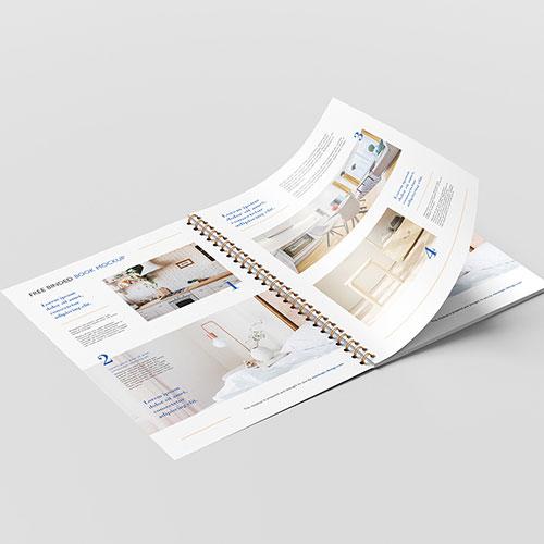 Brochure reliure spirales